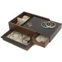 Umbra Stowit Jewellery Box - Black Walnut