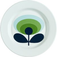 Orla Kiely Enamel Plate 70s Flower - Apple