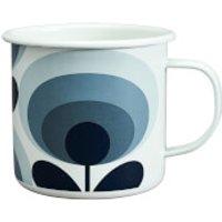 Orla Kiely Enamel Mug 70's Flower - Slate - Kitchen Gifts