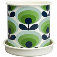 Orla Kiely Medium Plant Pot - Linear Stem Grey