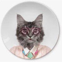 Wild Dining Courtney Cat Main Plate - Dining Gifts