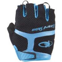 Lizard Skins Aramus GC Gloves - Jet Black/Elecrtic Blue - M - Black/Blue
