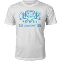 Geek Established 1990's T-Shirt- White - S - 1995