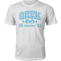 Geek Established 1990's T-Shirt- White - S - 1991