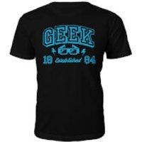 Geek Established 1980's T-Shirt- Black - XL - 1984