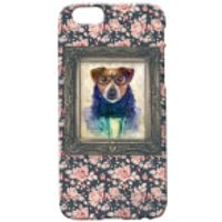 Dog Portrait Phone Case for iPhone and Android - iPhone 6 Plus - Floral