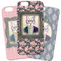 Cat Portrait Phone Case for iPhone and Android - iPhone 7 Plus - Regal Pink