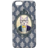 Cat Portrait Phone Case for iPhone and Android - iPhone 5 - Regal Blue - Iphone 5 Gifts
