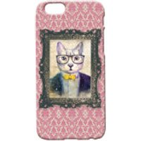 Cat Portrait Phone Case for iPhone and Android - iPhone 5 - Regal Pink - Iphone 5 Gifts