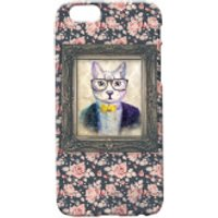 Cat Portrait Phone Case for iPhone and Android - iPhone 5 - Floral - Iphone 5 Gifts