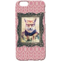 Fox Portrait Phone Case for iPhone and Android - iPhone 5 - Regal Pink - Iphone 5 Gifts