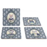 Hipster Animal Coasters Collection Two - Regal Blue