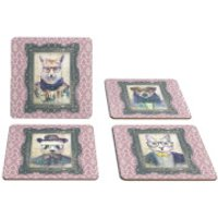 Hipster Animal Coasters Collection Two - Regal Pink