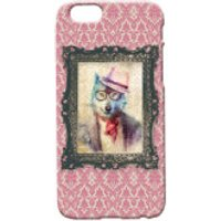 Wolf Portrait Phone Case for iPhone and Android - iPhone 5 - Regal Pink - Iphone 5 Gifts