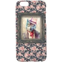 Wolf Portrait Phone Case for iPhone and Android - iPhone 5 - Floral - Iphone 5 Gifts