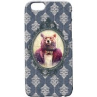 Bear Portrait Phone Case for iPhone and Android - Samsung Galaxy S6 Edge - Regal Blue