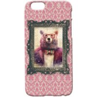 Bear Portrait Phone Case for iPhone and Android - iPhone 5 - Regal Pink - Iphone 5 Gifts