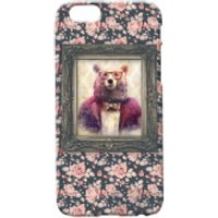 Bear Portrait Phone Case for iPhone and Android - iPhone 5 - Floral - Iphone 5 Gifts