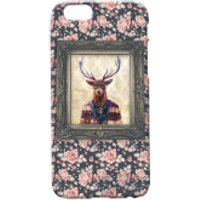 Deer Portrait Phone Case for iPhone and Android - iPhone 6 Plus - Floral