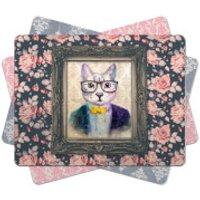 Cat Placemat - Regal Pink