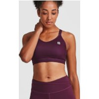 IdealFit Core Sports Bra - Dark Berry - M - Purple