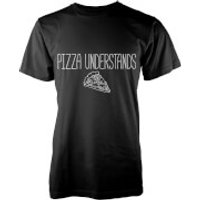 Pizza Understands T-Shirt - Black - XXL - Black