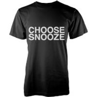Choose Snooze T-Shirt - Black - M - Grey
