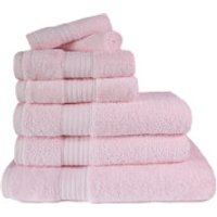 Restmor 100% Egyptian Cotton 7 Piece Supreme Towel Bale Set (500gsm) - Pink