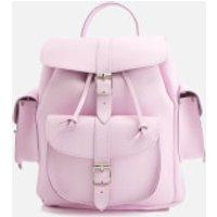 Grafea Womens Medium Leather Rucksack - Powder Pink