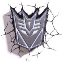 Transformers 3D Decepticon Shield Wall Light