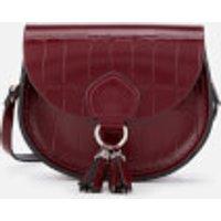 The Cambridge Satchel Company Womens Mini Tassel Bag - Oxblood Patent Croc