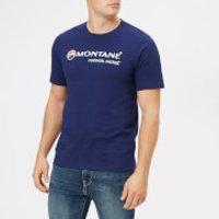 Montane Men's Logo T-Shirt - Antarctic Blue/White - S - Blue