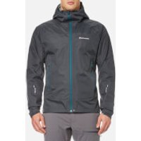 Montane Men's Atomic Rain Shell Jacket - Shadow/Zanskar Blue - XL - Grey