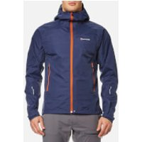 Montane Men's Atomic Rain Shell Jacket - Antarctic Blue/Tangerine - M - Blue