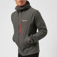 Montane Mens Minimus Stretch Jacket - Shadow/Alpine Red - S - Grey