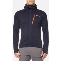 Montane Mens Power Up Hooded Fleece - Antarctic Blue/Tangerine - S - Blue
