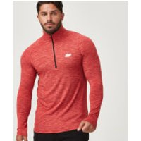 Performance Long-Sleeve ¼ Zip-Top - XL - Red