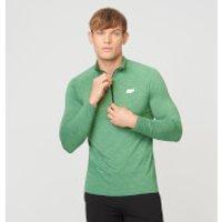 Performance Long Sleeve Zip-Top - L - Green