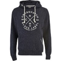 Crosshatch Mens Fizzy Fleck Fabric Hoody - Nightsky Navy - XL