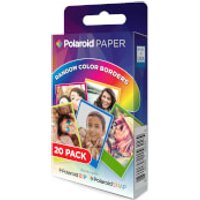 Polaroid 20 Pack of Film/Paper - Rainbow Border (2x3 Inch) - Accessories Gifts