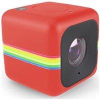 Polaroid Cube+ 1440p Mini Lifestyle Wi-Fi Action Camera - Red