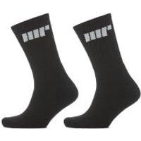 Crew Socks - UK 6-8 - Black/Black