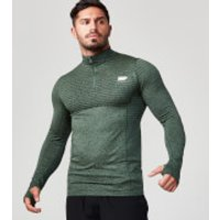 Seamless ¼ Zip-Top - M - Green