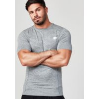 Seamless Short-Sleeve T-Shirt - XXL - Grey Marl