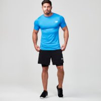 Seamless Short-Sleeve T-Shirt - M - Blue