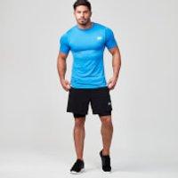 Seamless Short-Sleeve T-Shirt - S - Blue