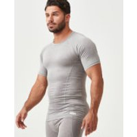 Charge Compression Short-Sleeve Top - L - Grey Marl