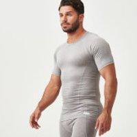 Charge Compression Short-Sleeve Top - XL - Grey Marl