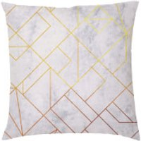 Marble Geometric Cushion - Grey