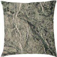 Marble Print Cushion - Black